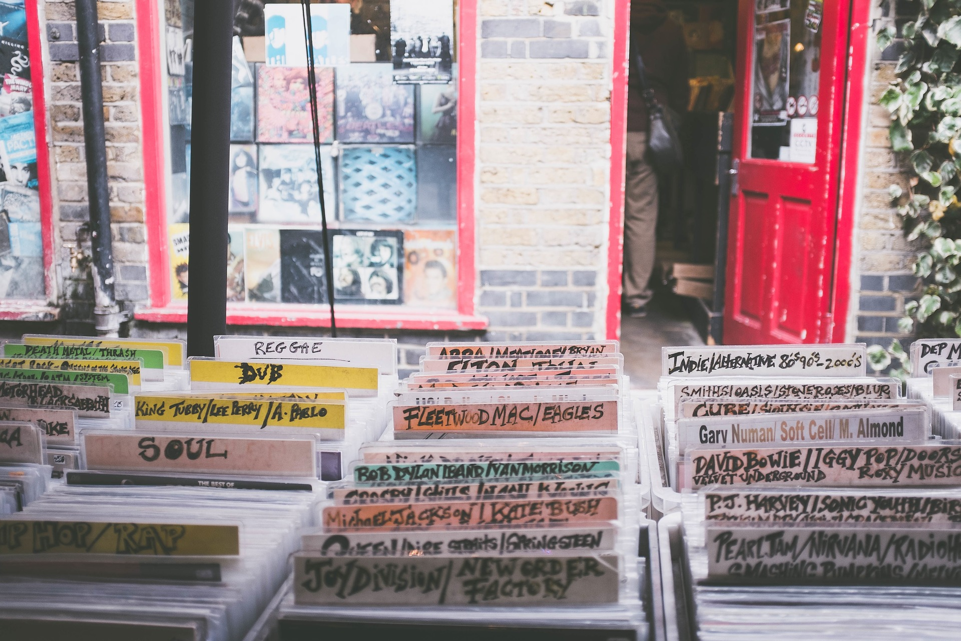 outside record store